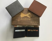 Groomsmen Gift Set, Cool Groomsmen Gift, Groomsmen Gift Idea, Mens Wallet, Personalized Gift, Wedding Gift, Gift for Him, Gift for Dad