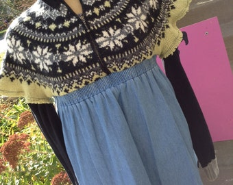 Handmade Bohemian Babe tunic from recycled materials size medium free domestic shipping