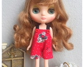 "Middie Blythe Outfit : ""Mickey Mouse Dungarees"" (Dungarees)"