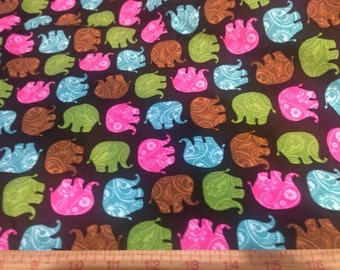 """Fabric Paisley Elephant stacked 1 yard x 42"""" wide new corduroy Springs Creative Products Group"""