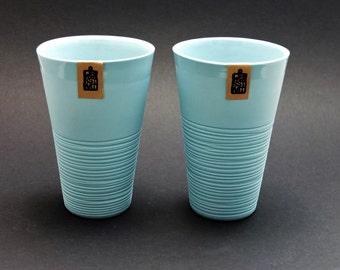 Mint green ripped porcelain mug, XL mug, large mug, contemporary ceramics, modern mug, mint green porcelain mug, ceramic mug