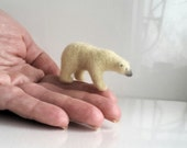 Micro Polar Bear....Felt toy Handmade Doll Soft Sculpture OOAK Needle Felted Wool Animals New... I will make this item for your order