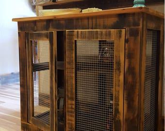 Cedar Framed Wire Cabinet