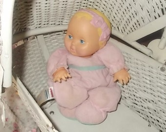 Fisher Price Doll,Music Baby Doll 1993,Baby Music Doll, 4250 Musical Baby fisher Price, Pull down Musical Baby Doll,Vintage Music Doll