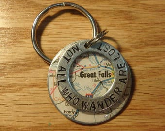 Montana Great Falls Key Chain