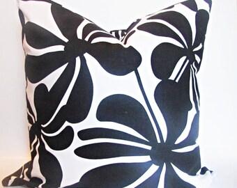 "Black PILLOW COVER. Black Cushion.Black  FloralPillow. Black Floral Pillow.16"",17"",18"",20"" 24"" 26"", Lumbar Pillow or Euro Sham"