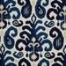 "Designer Decorative Pillow Cover-Blue Ikat. Pillow Sizes -10"",12"",14""16""18""20""22""24""26"" Square,Lumbar or Euro Sham ( SAME FABRIC Both Sides)"