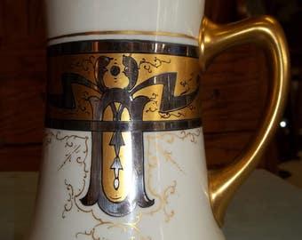 Vintage Jean Pouyat Limoge Tankard/Mug 1910's