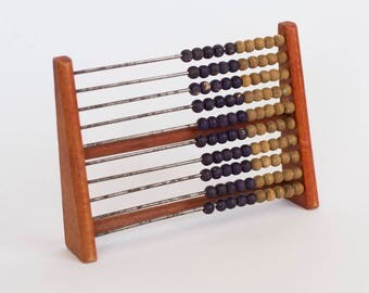 Vintage Wooden Abacus, Educational Abacus Toy