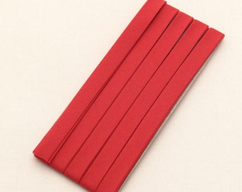 Cotton Candy Series Folded Cotton Bias in Red - 3 Yards 92889