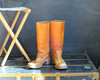 70's Campus Boots.  Leather Campus Boots.  1970's Boho Boots. Estimated Size  Women's 5.5-6 | The Curious Moose
