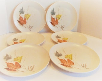 Vintage Boontonware Plates - Boonton Somerset - Melmac Plates - Melamine Dishes - Vintage Kitchen Plates - Dinner Plates