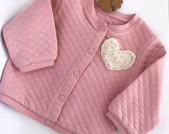 Chaqueta sudadera para bebes. Baby clothes. Sweatshirt. baby girl. chaqueta algodón. ropa bebes. sudadera rosa. sweatshirt baby. pink heart