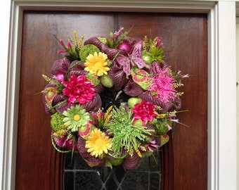 Whimsical Spring/Summer Wreath