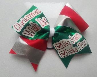 Christmas wish list Cheer bow