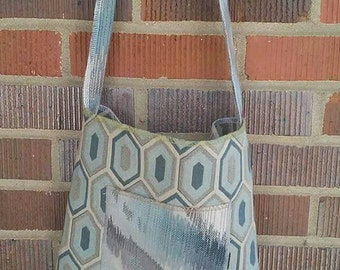 Upcycled Upholstery Fabric Cross Body Hippie Boho Purse
