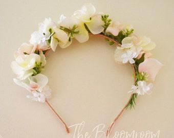 Flower headband, Headband, Bridal headband, Flower headpiece, Flower girl headband, Floral Headpiece, Hair accessories, Girl headband