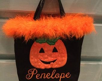 Pumpkin Halloween Treat Bag
