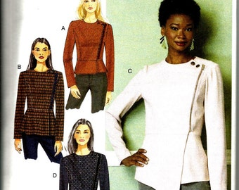 Butterick 6420 new and uncut size 6 - 14 womans blouse