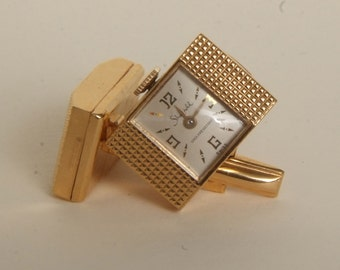 Vintage Cuff links with Sheffield clock