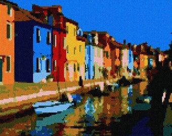Needlepoint Kit or Canvas: Burano