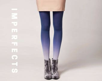 BZR Ombré Tights in Denim - SALE