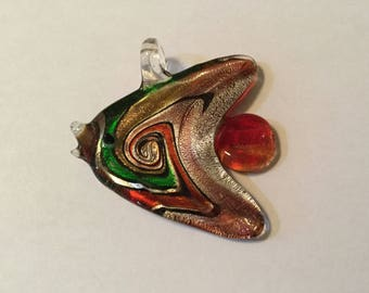 Glass Fish Pendant Tropical Fish