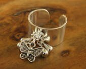 Adjustable ring - Bahia del Sol - boho jewelry - hippy - gypsy - Ibiza - yoga - tribal - ring - ethnic - ring - gypset - butterfly
