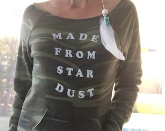 Made From Star Dust - Camo Dancer Fleece Sweatshirt