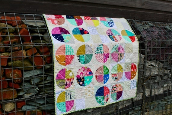 Patchwork Quilt, Lap Quilt, I Spy quilt, Sofa Throw or Baby Blanket, Homemade Quilt