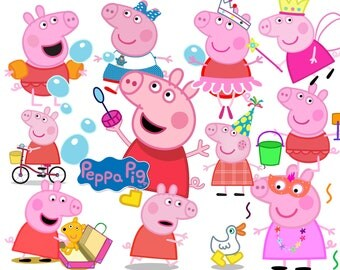 Best collection of 135 PEPPA PIG clipart - 135 high quality Peppa Pig CLIPART - 135 Peppa Pig Graphics !!! frames included !!!
