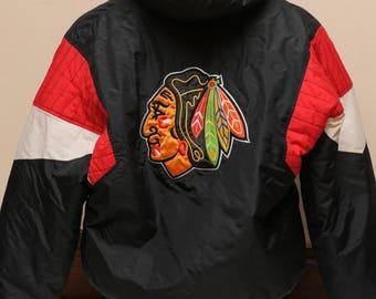 90s NHL Chicago Blackhawks Starter Jacket Size Large