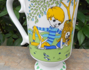 Vintage 1970's Boy Meets Girl Smug Mug Royal Crown Arnart by Kitty #3587 Cup