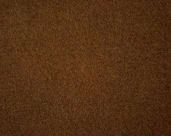 """Brown Felt Fabric 72"""" Wide Per Yard"""