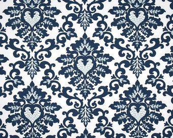 Cecilia Premier Navy Blue White - 1 Yard - Home Decor  - Premier Prints Duck Cloth