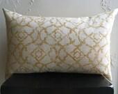 Yellow Decorative Pillow Cover, 16x26 Distressed Lumbar Pillow Cover, Marrakesh Throw Pillows