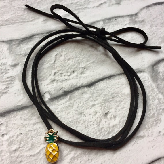 Pineapple Choker Rockabilly Pinup style
