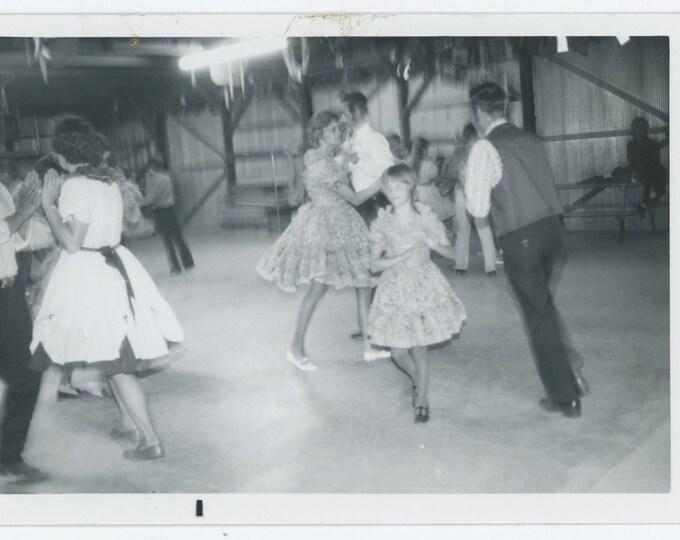 Vintage Snapshot Photo: Barn Dance [71540)