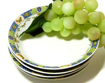 Four Union Ceramique Limoges Fruit Bowls Butterflies