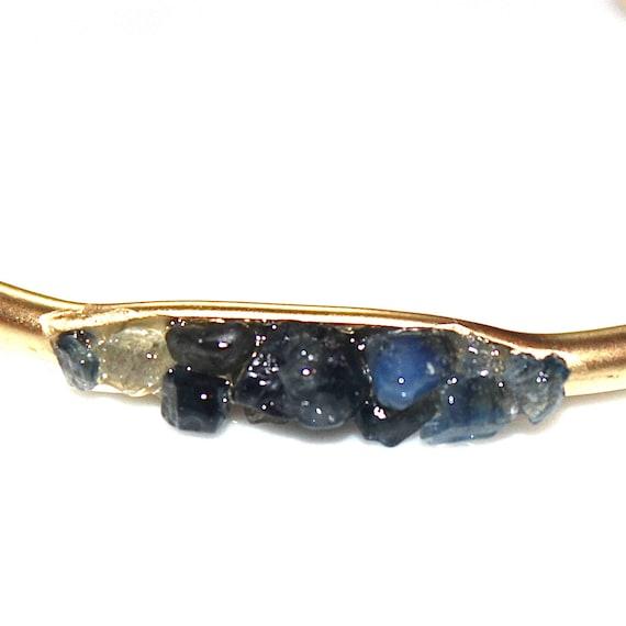 Raw Sapphire Cuff Bracelet