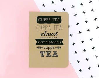 Buffy the Vampire Slayer quote notebook - Spike and Giles - cuppa tea