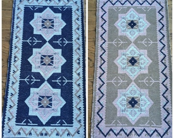 Small Accent Rug - Reversible - Small Vintage Rug