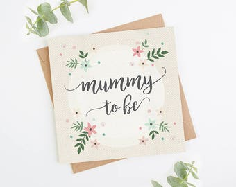 Mummy To Be Pregnancy Congratulations New Mum Baby Shower Card