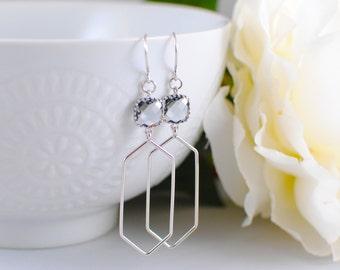 The Rena Earrings - Grey