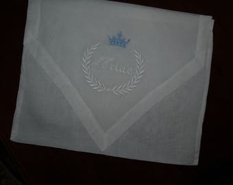 Envelope Style Linen Personalized Monogrammed Lingerie Bags Great for Brides or Bridesmaids