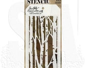TIM HOLTZ STENCILs - Birch Trees  -  Choose Your Designs - IDEAoLOGY - Stampers Anonymous