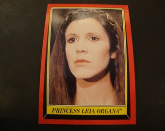 SALE - Vintage Princess Leia Organa Trading Card - Carrie Fisher -Star Wars/Empire Strikes Back/ROTJ -.65 Cent Ship, 1.35 Int'l Ship - MINT!