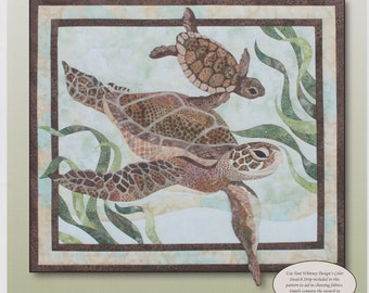 Sea Turtles Quilt Pattern by Toni Whitney Design DIY Quilting Applique