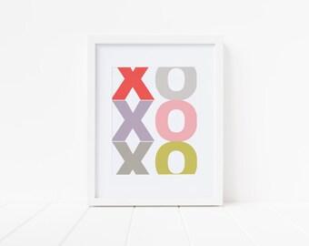 Valentine's XOXOXO print!
