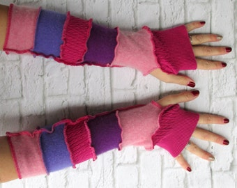 Fingerless Gloves - Birthday Gift for Daughter - Upcycled Clothes - Graduation Present - Recycled Sweaters - Arthritis Pain - One of a Kind